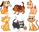 Domestic Cat,Playful,Dog,Backgrounds,Clip Art,Photograph,Image,Computer Graphic,Kitten,Puppy,Young Animal,Series,Pets,Dog Bone,Isolated,four-legged,Animal,lovable,Brown,Family,Feline,bestfriend,Small,Orange Color,Loyalty,White,Sitting