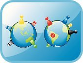 Board Game Piece,Board Game Marker,Earth,Globe - Man Made Object,People,World Map,Vector,Multi Colored,Australian Culture,continent,Asia,Asian Ethnicity,USA,The Americas,Australia,Illustrations And Vector Art,Africa,American Culture,Travel Locations,African Descent,Ilustration,Caucasian Ethnicity,Europe