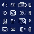 Personal Stereo,Audio Cassette,Symbol,CD Player,Camera - Photographic Equipment,Radio,Dictaphone,Flat,Computer Icon,Outline,Headphones,Vector,DVD Player,Mobile Phone,Telephone,Music,Microphone,Modern,Set,Calculator,Internet,Audio Equipment,Computer Graphic,Disk,Speaker,Ilustration,Equipment,Series,Gramophone Record,Photographic Camera,record-player,Contour Drawing,Radio Cassette Player,Group of Objects,Sound,Design,Flash Player,Vector Icons,Illustrations And Vector Art,Music Mixer