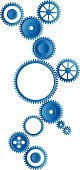 Machine Part,Clock,Interlocked,Gear,Clockworks,Control,Working,Industry,Equipment,Design Element,Turning,Technology,Construction Industry,Group of Objects,Engine,Industrial Objects,Illustrations And Vector Art,Vector,No People,Abstract,Ilustration,Thinking