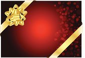 Bow,Vector,Ribbon,Gold Colored,Red