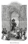 Architecture,Old,Old-fashioned,Black And White,Architectural Feature,Built Structure,Gate,Building Feature,History,Styles,Engraved Image,Antique,Moorish,Woodcut,Ilustration,Arch,Print,Architectural Styles
