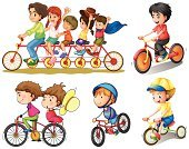 Small,Wheel,Image,Cycling,Clip Art,People,Hat,Backgrounds,Men,Little Boys,Smiling,Holding,Computer Graphic,Women