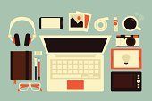 Desk,Infographic,Laptop,Education,Book,Pencil,Office Interior,Office Building,Working At Home,Retail Display,Camera - Photographic Equipment,Coffee - Drink,Design Professional,Internet,Lifestyles,Occupation,Desktop PC,Headphones,Symbol,Computer Icon,Technology,Inspiration,Drawing - Activity,Space,Photograph,Domestic Room,Ilustration,Note Pad,Light Bulb,Ring Binder,Modern,Computer,Studio Shot,Studio,Business,Study,Creativity,Working,Sparse,Notebook,Digital Tablet,Vector,Ideas,Art,Smart Phone,Data,Pen,Sunglasses,Motivation,Plan,Computer Graphic,Drawing - Art Product,Collection,Concepts,Job - Religious Figure,Showing,Design,Personal Accessory,Table,Effort,Professional Occupation,Digital Viewfinder,Imagination,Spiral Notebook