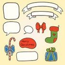 Decoration,Gift,Christmas,Decor,template,Humor,Backgrounds,Collection,Ilustration,Ornate,Label,Greeting,Vector
