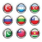 Famous Place,National Landmark,Shiny,Connection,East,Business,Symbol,Suriname,Liberia,Russia,Backgrounds,Pushing,Vector,Computer,Honduras,Flag,Metallic,Ilustration,Badge,Collection,Insignia,Internet