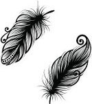 Feather,Feather,Tattoo,Plan,Ilustration,Bird,Black And White,Black Color,Vector,Abstract,Nature,Design,Style,Retro Revival,Group of Objects,Beauty In Nature,Painted Image,Ornate,Remote,White,Pattern,Decoration,Design Element,Fragility,Elegance,Computer Graphic,Curve,Art