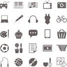 Symbol,Computer Icon,Writing,Music,Watching TV,Television Set,Gardening,Icon Set,Cooking,Baking,Computer,Sport,Microphone,Internet,Football,listening to music,Ilustration,Video Game,Photography,Vector,Photographing,Baked,Flower,Discussion,Cake,Shovel,Notebook,Painting,Listening,Joystick,playing sports,Camera - Photographic Equipment,Dessert,Singing,Flower Pot