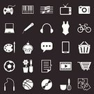 Television Set,Computer Icon,Symbol,Video Game,Watching TV,Listening,Vector,Ilustration,Gardening,Dessert,Writing,Baked,Music,listening to music,Microphone,Internet,Flower Pot,playing sports,Sport,Cooking,Singing,Computer,Shovel,Cake,Notebook,Camera - Photographic Equipment,Icon Set,Flower,Discussion,Photography,Football,Photographing,Baking,Painting,Joystick