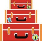 Suitcase,Label,Red,Travel Sticker,Luggage Tag,Vector,Luggage,Travel,People Traveling