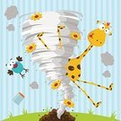 Tornado,Swirl,Giraffe,Animal,Cyclone,Funnel,catastrophic,Baby,Air,Summer,Fun,Cloud - Sky,Wind,Multi Colored,Green Color,Nature,Orange Color,Yellow,Destruction,Bird,Tall,Ilustration,Hurricane - Storm,Cards,Fog,Sky,Flower,Landscape,Glass,sunny day,Vortex,Vector,Cartoon,Spinning,Grass,Hurricane Cocktail,Glass - Material
