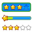 Progress,Bar Counter,Star Shape,Gold Colored,Winning,Cartoon,Ilustration,Internet,Isolated,rating,Design Element,Computer Icon,Vector,Connection,Symbol,Design,ranking,Set,Sign,Decoration,Success,Gold,Shiny,Energy
