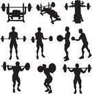 Weightlifting,Gym,Weight Training,Silhouette,Exercising,Sport,Weight Bench,Vector,Dumbbell,Men,Health Club,Back Lit,Sports Training,Muscular Build,People,Strength,Male,Cartoon,Healthy Lifestyle,Athlete,Ilustration,Outline,Large Group of Objects,Isolated,Isolated On White,Collection,Action,Black Color,Recreational Pursuit,Cut Out,Determination,White Background,Clip Art,Practicing,Focus - Concept,Design,Sketch,Design Element,Adult,Exercise,Leisure Activity,Illustrations And Vector Art,Digitally Generated Image,Digital Composite,Beauty And Health