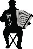 Accordion,Harmonica,French Culture,Folk Music,Music,Bellows,Playing,Old-fashioned,Acoustic Instrument,accordionist,Musician,Piano Key,1950s Style,Remote,Human Hand,Musical Instrument,Aerophone,Isolated,Chord,Vector,Ilustration,Male,Men,Sound