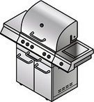 Barbecue,Equipment,Natural Gas,Picnic,Kitchen Utensil,Isometric,Summer,Cutting,Baking,Rotisserie,Domestic Life,Stainless Steel,Steel