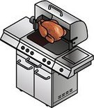 Rotisserie,Barbecue,Equipment,Thanksgiving,Kitchen Utensil,Isometric,Natural Gas,Picnic,Steel,Domestic Life,Baking,Stainless Steel,Hood,Cutting,Summer