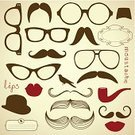 Human Face,Shape,Vector,Collection,Barber,Fashion,Artificial,unisex,Personal Accessory,Invitation,Smiling,Backgrounds,Eyeglasses,Clothing,Fake Mustaches,Whisker,Beard,Humor,Human Lips,Mustache,Fun