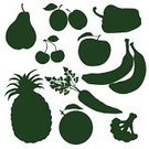 Silhouette,Vegetable,Fruit,Carrot,Apple - Fruit,Symbol,Pineapple,Food,Vector,Cherry,Citrus Fruit,Isolated,Leaf,Pear,Green Color,Freshness,Orange - Fruit,Set,Sign,Single Object,Banana,Nature,Berry Fruit,Vegetarian Food,Juicy,Plum,Organic,Clip Art,Juice,Collection,Cauliflower,Ilustration,Sweet Food