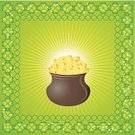 St. Patrick's Day,Clover,Irish Culture,Gold Colored,Gold,Cooking Pan,Luck,Coin,Green Color,Vector,Design,Photograph,Backgrounds,Nature,Frame,Holiday,Art,Paintings,Star Shape,Earthenware,Ornate,Republic of Ireland,Square,Cauldron,Composition,Ilustration,Day,Image Created 17th Century,North,Clip Art,Cultures,Shiny,Shape,Symbol