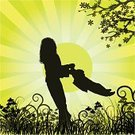 Mother,Child,Silhouette,Family,Vector,Parent,Son,Abstract,Backgrounds,Flower,Love,Happiness,People,Freedom,Sun,Nature,Little Girls,Vacations,Grass,Sky,Night,Decoration,Sunlight,Ilustration,Landscaped,Illustrations And Vector Art,Field,Nature,Leisure Activity,Flowers,Plant,Sunbeam
