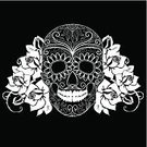Day Of The Dead,Tattoo,Mexican Culture,Pattern,Rock and Roll,People,Gothic Style,Swirl,Halloween,Symbol,Ornate,Doodle,Ilustration,Vector,Backgrounds,Celebration,Day,Mustache,Sugar Skull,Black And White,Cultures,Romance,Creativity