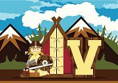 Shield,Ilustration,Viking,Chain Mail,Alphabet,Goatee,Belt,Cape,Sword,Suit of Armor,Mustache,Norway,Protective Workwear,Holding,Clip Art,Cute,Scandinavian,Bag,The Past,Mountain,Conflict,Smiling,Norsemen,Vector,Non-Urban Scene,Macho,Letter V,Funky,Characters,Cartoon,Warrior,Nordic Countries,Men,Armed Forces,Work Helmet,Toughness,norse,Learning,History,Weapon,Beard,Horned,Education,Tent