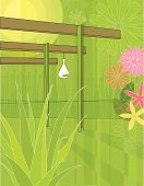 Pergola,1950s Style,Outdoors,Vector,Horsetail,Flower,Vertical,Green Color,Pink Color,Yellow,Leaf,spot illustration,Aloe Vera Plant,Stylish Design,Concept Retro,Symbol,Day,Shadow,Floral Motif,Retro Revival,No People,Group of Objects,Ilustration,1940-1980 Retro-Styled Imagery,Sunlight,Mid-century Modern,Clip Art,home exterior,Sun,Color Image