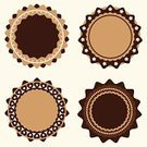 Decoration,Old-fashioned,Brown,Sign,Symbol,Classic,Style,Design,Circle,Simplicity,Ilustration,Vector,Retro Revival,Badge,Label,Curve,Backgrounds,Set