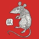 Chinese Zodiac Sign,Rat,Fortune Telling,Vector,Ilustration,Ornate,Hieroglyphics,Abstract,2014,Year,Computer Graphic,Symbol,Celebration,Pattern,Sign,Calendar,Decoration,Animal,Red,Cultures,Backgrounds