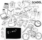 Education,Computer Icon,Paper,Laptop,Pencil,Child,School Supplies,Sketch,Doodle,Alphabet,Number,Book,Ruler,Cartoon,Arrow Symbol,Mathematical Symbol,Crayon,Backpack,Collection,Clock,Text,Drawing - Art Product,Classroom,Bag,Back to School,Triangle Ruler,Textbook,Pen,Science,Elementary Age,Vector,Computer,Little Boys,Group of Objects,Ilustration,Mathematics,Chemistry,Fun,Set,Creativity,Ideas,Bicycle,Calculator,Design,Learning