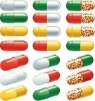 Capsule,Pill,Nutritional Supplement,Yellow,Therapy,Color Image,White,Pharmacy,Colors,Medicine,Set,Illness,Horizontal,Prescription Medicine,Healthcare And Medicine,Red,Ilustration,Image,Science,Aspirin,nutritional,Isolated,Shiny,Green Color,No People,Group of Objects,Vector,Painkiller,Vitamin Pill,Antibiotic