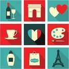 Paris - France,Arc de Triomphe,Luxury,Symbol,Wine Bottle,Art,Heart Shape,Shopping Bag,Palette,Retail,Love,Computer Icon,Vector,France,Tea - Hot Drink,Romance,French Culture,Long,Blue,Coffee - Drink,Flag,Design,Tower,Shadow,Shopping,White,Perfume,Glass,White Background,Design Element,Monument,Paintbrush,Bottle,Cultures,Isolated,Isolated On White,Wine,Eiffel Tower,Red,Cup,Bag