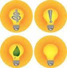 Exclamation Point,Light Bulb,Dollar Sign,Ideas,Symbol,Leaf,Business Concepts,Yellow,Concepts And Ideas,Business,Ilustration,Vector,Environmental Conservation,Religious Icon,Computer Icon,Concepts