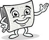 Showing,Newspaper,Cute,Cartoon,Characters,Information Medium,The Media