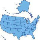 USA,Cartography,Map,Territorial,The Americas,US State Border,Outline,Silhouette,Alaska,Design,Hawaii Islands,state,Education,Country - Geographic Area,region,Design Element,Computer Graphic,Contour Drawing,continent,nation,Vector,Ilustration,Unity,World Map,Blue