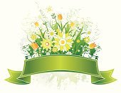 Flower,Banner,Ribbon,Label,Daisy,Springtime,Marguerite,Insignia,Green Color,Nature,Vector,Leaf,Placard,Computer Graphic,Celebration,Abstract,Modern,Ornate,Design,Season,Gift,Scroll Shape,Paint,Symbol,Backgrounds,Clip Art,Cartouche,Retro Revival,Beautiful,Part Of,Announcement Message,Drawing - Art Product,Ilustration,Old-fashioned,Paintings,Decor,Shape,Curve,Creativity,Holiday,Curled Up,Holidays And Celebrations,Illustrations And Vector Art