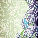 Green Color,Design,Curve,Backgrounds,Ilustration,Abstract,Vector