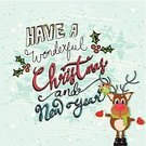 Characters,Christmas,Vector,Retro Revival,Ilustration,Cartoon,Banner,Typescript,Simplicity,Symbol,typographic,Season,Animal,Holly,Calligraphy,Christmas Card,Reindeer,Cheerful,Winter,Decoration,December,Humor,Happiness,Greeting,Smiling,Computer Graphic,Text,Placard,Cute
