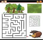Puzzle,Maze,Tree,Animal,Hedgehog,Cartoon,Child,Diagram,Forest,Characters,Surrounding Wall,Preschooler,template,Little Girls,Leisure Games,Vector,Computer Graphic,Education,Square,Play,Footpath,Design,Shape,Preparation,Humor,Fun,Direction,Application Software,Preschool,Entrance,Preliminary,Outline,Exit Sign,Drawing - Art Product,Leaving,Learning,Cheerful,Ilustration,Searching,Nature,Square Shape,Solution,Happiness,Little Boys