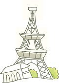 Tree,The Eiffel Tower,Architecture,Construction Industry,Ilustration,Vector