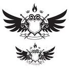 Sword,Shield,Wing,Coat Of Arms,Crown,Flame,Fire - Natural Phenomenon,Dirty,Insignia,Grunge,White,Black Color,Vector,Banner,Nobility,Sign,Retro Revival,Ribbon,Art,Symbol,Ribbon,Computer Graphic,Label,Design,Messy,Backgrounds,Ornate,Shape,Drawing - Art Product,Decoration,Elegance,Silhouette,Part Of,Illustrations And Vector Art,Arts And Entertainment,Clip Art,Vector Icons,Arts Symbols,Classical Style