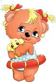 Tranquil Scene,Swimwear,Toy,Drawing - Art Product,Animal,Standing,Smiling,Teddy Bear,Blue,Bear,Childhood,Animal Hair,Child,Teenager,Cute,Green Pea,Inflatable Ring,Skirt,Softness,Illustration,Cartoon,Teenage Girls,Young Animal,Bear Cub,Cub,Vector,Characters,White Background,Constraining,Clip Art