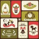Christmas,Retro Revival,Old-fashioned,Placard,Label,Clock,Santa Claus,Scrapbook,Backgrounds,Greeting Card,Holly,Bow,Menu,New Year's Eve,Cupcake,Food,Set,Bell,Congratulating,Calligraphy,Note Pad,Silhouette,Frame,Berry Fruit,Dessert,Red,Brown,Sweet Food,Snowflake,Ribbon,Design,Green Color,Horse,Nostalgia,Greeting,Holiday,Message,Candle,New Year,Collection,Insignia,Ornate,Deer,Design Element,Symbol,Invitation
