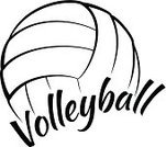 Volleyball,Volleyball - Sport,Ball,Vector,Black And White,Sport,Isolated On White,Fun,Text,Calligraphy,Typescript