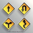 Danger,Diamond,Sign,Arrow,Road Sign,Curve,Street,No U Turn,Road,Traffic,Symbol,Single Lane Road,Backgrounds,Placard,right,City Of Post,Computer Graphic,Choice,Transportation,In Front Of,Direction,Black Color,Yellow,Advice,Blank,Vector,Highway,Safety,White,Uranium,Ilustration,Art,Back - Furniture Part,Driving,Fork,Turning,Blackboard