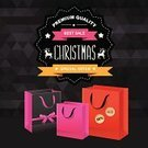 Sale,Christmas,Pink Color,Sign,Banner,Bag,Black Color,Computer Graphic,Glamour,Design,Giving,Ideas,Old-fashioned,Holiday,Retro Revival,Ribbon,Vector,Typescript,Abstract,Poster