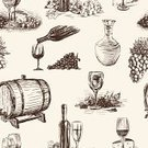 Wine,Wine Bottle,Wineglass,Vine,Cheese,Barrel,Glass,Winemaking,Food,Glass - Material,Pattern,Drawing - Art Product,Grape,Fruit,Jug,Agriculture,Crop,Bunch,Bottle,Alcohol,Sketch,Berry Fruit