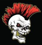 Human Skull,Mohawk,Punk,Mascot,Eight Ball,Aggression,Human Teeth,Isolated,Music,People,Lifestyle,handcarves,Arts And Entertainment