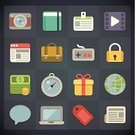 Symbol,Lock,Flat,Newspaper,Currency,Vector,Application Software,Camera - Photographic Equipment,Set,File,Film,Gift,Message,Coin,Business,Sign,Briefcase,Icon Set