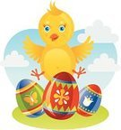 Easter,Young Bird,Baby Chicken,Eggs,Bird,Chicken - Bird,Young Animal,Animal Egg,Easter Egg,Vector,Smiling,Happiness,Cheerful,Springtime,New Life,Cute,Holiday,Celebration,Smiley Face